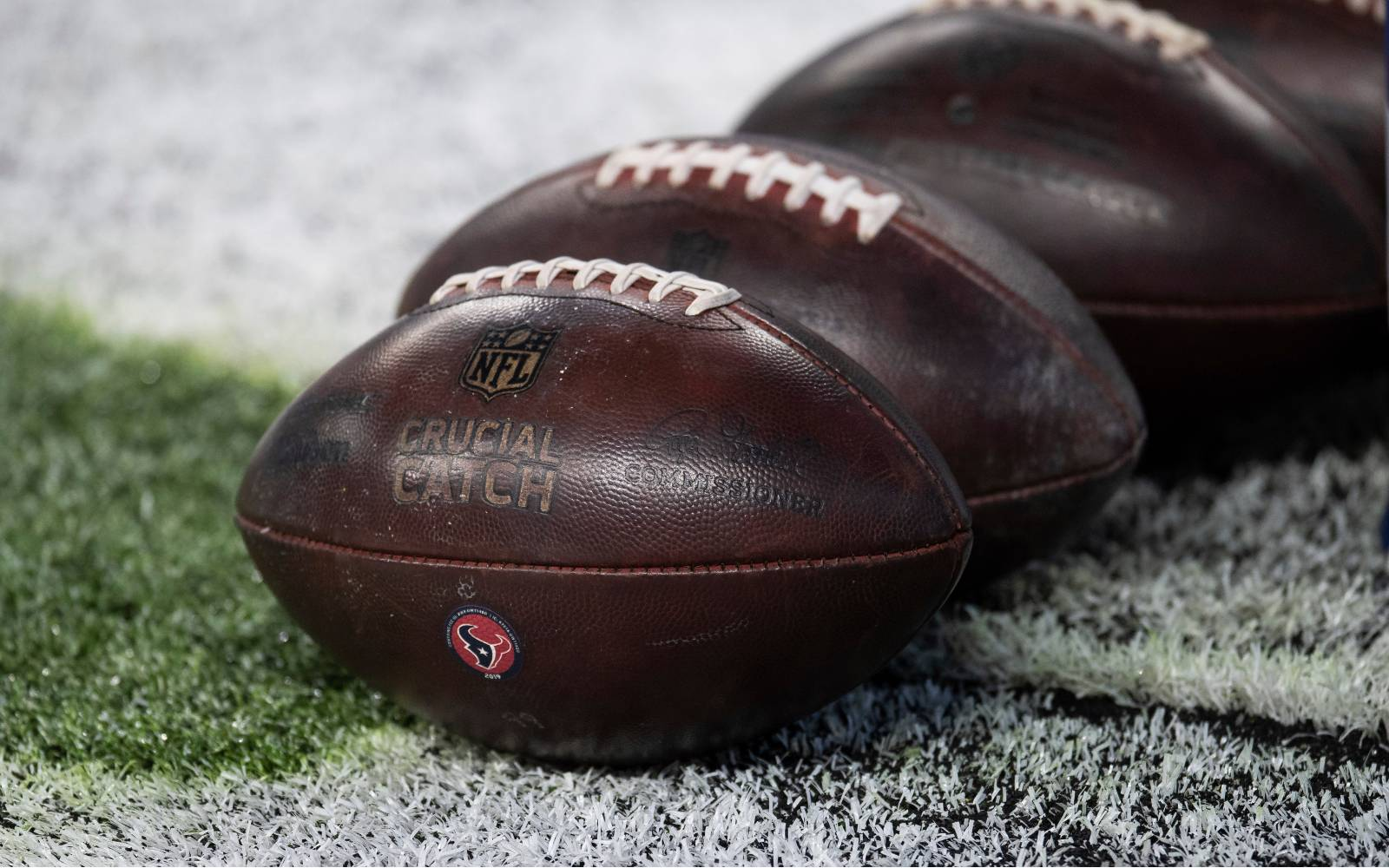 Leather NFL footballs